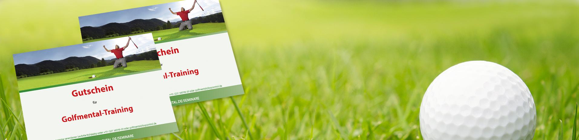 Golf-Gutscheinbanner